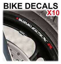 10X SUZUKI GSXR MOTORCYCLE BIKE WHEEL STICKERS DECALS TAPE RIMS