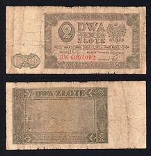 2 zlote Bank Polski 1948  **