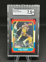 1986-87 Fleer, Magic Johnson  #53 SGC 7.5+ NMNT+ Centering took the Mint, 🔥