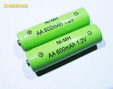 2 Stück 1,2V 600mAh AA NiMh Akku / Ersatz für Solarleuchte Solarlampe