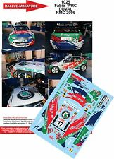 DÉCALS 1/18 réf 1025 SKODA Fabia  WRC DUVAL RALLYE MONTE CARLO 2006