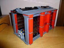 LEGO TRAIN TRENO EISENBAHN ZUG CITY 10027-LIKE SHED LOKSCHUPPEN DEPOSITO MOC