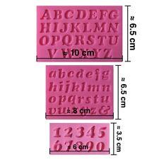 Moule silicone 3D Alphabet chiffres pour pâte à sucre, cake design,