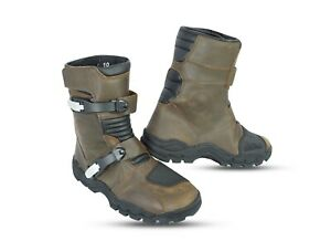MOTORBIKE ADVENTURE WATERPROOF BOOTS LEATHER MOTORCYCLE TOURING SHOES OFF ROAD