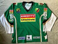 Gameworn Naprzód Janow Hockey Jersey - #16 Czarnecka Polska Polen Eishockey Rare