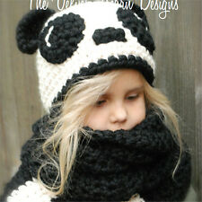 New Fasion 2017 Cute Panda Baby Kids Winter Hat Scarf Set For Girls And Boys So