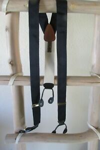 NEW ASSORTED TRAFALGAR ELASTIC BUTTON-ON LEATHER PATCH SUSPENDERS, ENGLAND