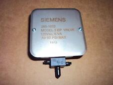 Siemen 265-1022 Three-way Electro-Pneumatic Air Valve, 120 Vac Grey