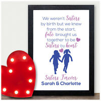 PERSONALISED Christmas Gifts for Best Friends Friendship Gifts Sisters By Heart