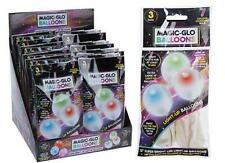 PACK OF 3 MAGIC-GLO LED LIGHT-UP PARTY BALLOONS  - NEW