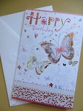 AMERICAN Greeting card Happy Birthday  (GORGEOUS Butterflies)  TURNoWSKY (female