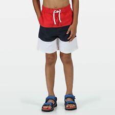 Regatta Kids Shaul III Recycled Mesh Lined Swim Shorts - True Red/Navy