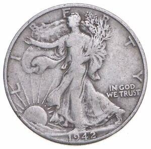 1942-D Walking Liberty 90% Silver US Half Dollar *931
