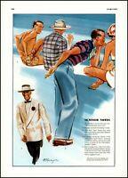 1938 summer notes menswear Esquire men's fashions vintage art Print Ad adL51