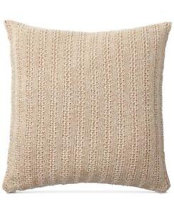 "Lauren Ralph Lauren Graydon Melange Knit 18"" Cotton Decorative Pillow Dune Linen"