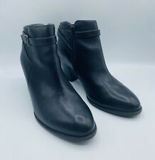 Vionic Black Faux Leather Booties 9W