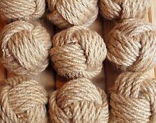 Set of 24 Nautical Rope Knots,Natural Hemp Rope