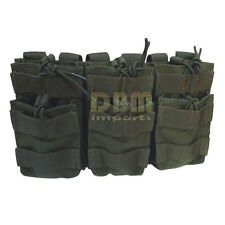 OD GREEN Molle Triple STACKER .223 5.56 MAG Pouch Ammo Carrier Open Top Bungee