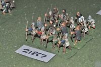 25mm medieval / english - archers 16 figs infantry - inf (21867)