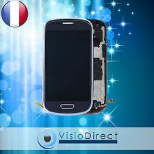 Ecran vitre complet sur chassis pour Samsung Galaxy S3 mini i8190 Bleu