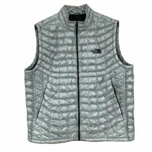 The North Face Men's Size XL Thermoball Trekker Quilted Vest Ultralight Mid Gray