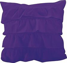 "Katy Ruffle Decorative Throw  Pillow Cushion Sofa / Bed - 18""X18Inch"
