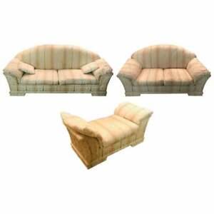Very Premium Couchgarnitur from The Bielefelder Workshops With Barockmustern