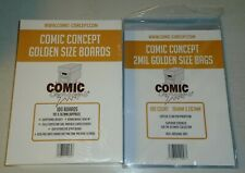 More details for 100 x golden age comic concept backing boards and bags out of stock