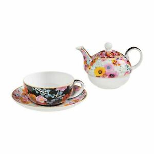 Reduced Cashmere Bloems Tea For One Floral China Teapot Cup Tea Pot Set Gift