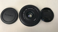 Panasonic Lumix G H-H020 20 mm f/1.7 Asphérique Micro Quatre Tiers Lentilles