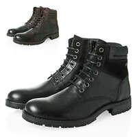 Jack & Jones Herren Schnürboots Stiefeletten Echtleder Herrenschuhe Schuhe Boots
