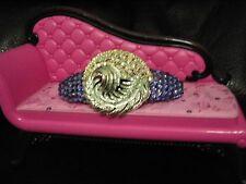 Crystals & VINTAGE FEATHER Jewelry BARRETTE Tanzanite ELEGANT!
