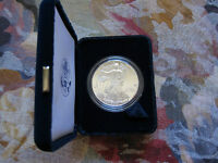 2001-W 1 oz Proof Silver American Eagle (w/Box & CoA)