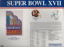 Redskins vs Dolphins Super Bowl 17 Commemorative Patch Sealed in 9x12 Display