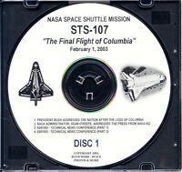 """SPACE SHUTTLE STS-107 """"The Final Flight Of Columbia"""" 9 CDs (Audio, Photos, Data)"""