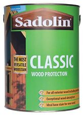 Sadolin Classic Woodstain 5LT  Can (All colours Available) (NEW & U.K STOCK)