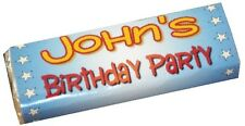 12 x Personalised Wrappers Chocolate Bars Birthday Favours
