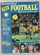 1975 Game Plan Pro Football Annual Preview Magazine--Bradshaw---Stabler  vg