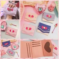 Sailor Moon Wallet Candy Color Bow Knot Women Clutch Bag Girls Card Coin Purses