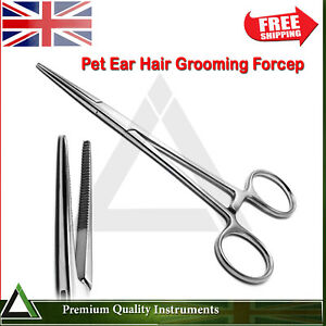 Locking Handle Forcep Dog Ear Hair Removal Pet Hairs Grooming Forceps