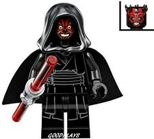 Lego Star Wars Darth Maul Minifigure  With hood new From set 75096 minifig