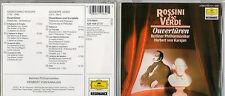 Rossini & VERDI ouverture di Berlino esibirsi Herbert di Karajan CD (box41)