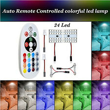 12v DC 5W Auto LED light RGB with remote control T10 5050 24SMD