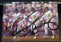 Dennis Eckersley SIGNED 1993 Donruss Spirit of the Game #4 Oakland A's AUTOGRAPH