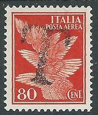 1930-32 REGNO POSTA AEREA 80 CENT SEGNATASSE DI EMERGENZA MH * - Y172