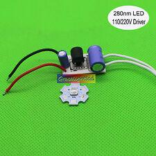 UVB 280nm UV led diodes low wavelength Ultra Violet LED's with Driver 110/220V