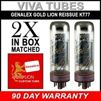 Brand New Genalex Reissue KT77 KT-77 Current Matched Pair (2) Vacuum Tubes