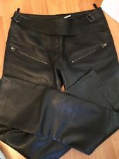 MAX STUDIO BLACK LEATHER MOTORCYCLE ZIPPER PANTS SPECIAL EDITION $550 Size 4