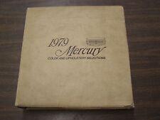 Mercury Dealers Product Guide 1979 Color + Trim Book Cougar Capri Marquis Bobcat