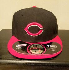 59FIFTY Cincinnati Reds MLB Black/Red Fitted Cap Hat NEW Size 7 1/8